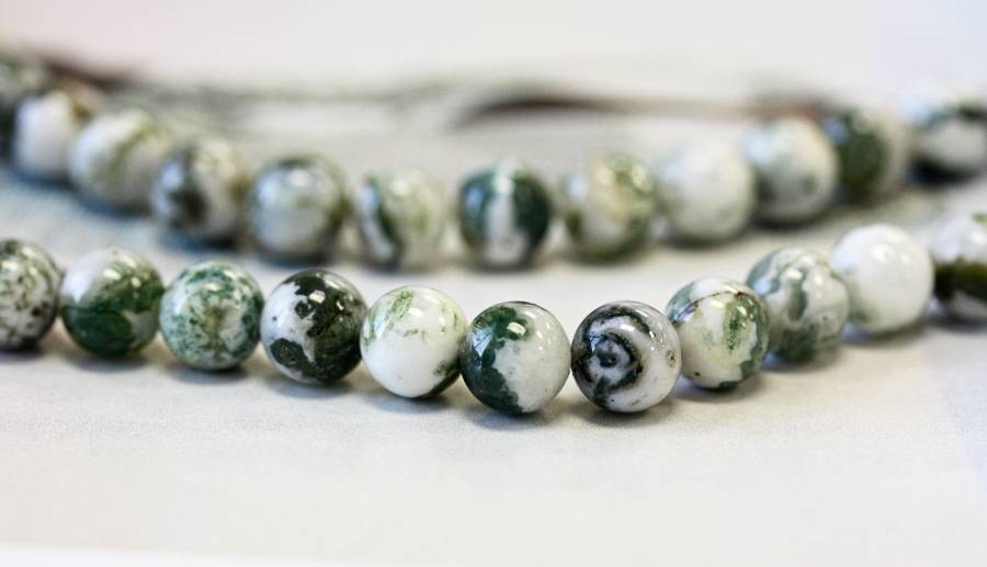 212-0008 Tree Agate 8mm Round